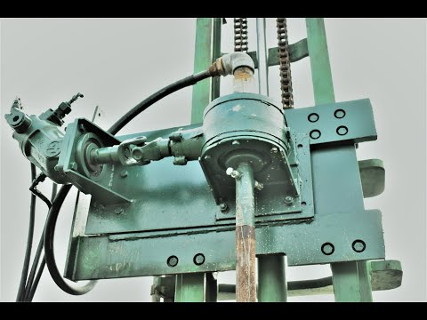 Homemade Water Well Drilling Machine (built From Parts Of Half Forklift)