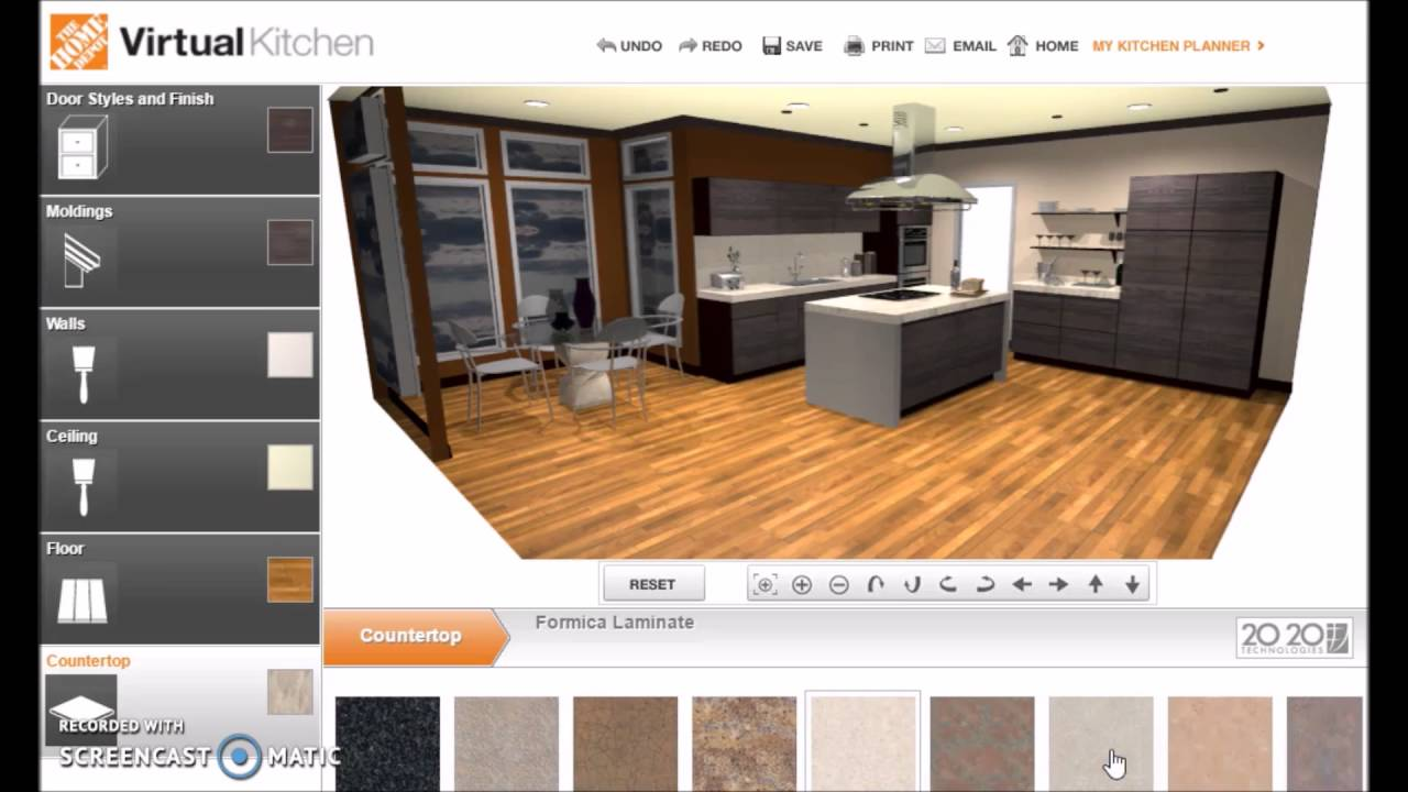 Virtual Kitchen Ikea Countertop Homedepot Youtube