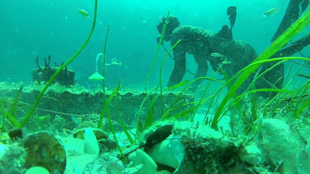 Lobster diving long island Bahamas - YouTube