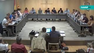 Ajuntament de Calafell: sessió plenària ordinària, 5 de juny de 2017
