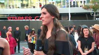 Demi Lovato and Danica Roem Interview - AMAs Red Carpet 2017