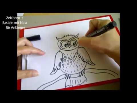 eule zeichnen zeichnen lernen f r kinder how to draw an. Black Bedroom Furniture Sets. Home Design Ideas