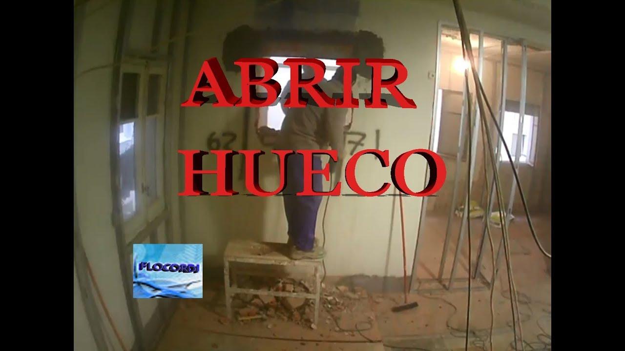 agrandar una ventana de casa Colocacion De CARGADEROS 3 Parte Abrir Hueco De Puerta En Pared De Carga