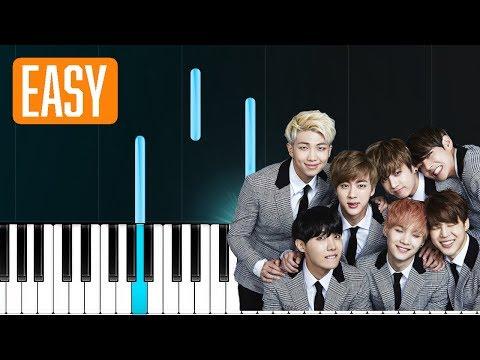 """BTS - """"Let Go"""" 100% EASY PIANO TUTORIAL"""