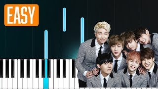 "BTS - ""Let Go"" 100% EASY PIANO TUTORIAL"
