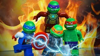 LEGO Ninja Turtles as Avengers 🐢🍕 TMNT Stop Motion