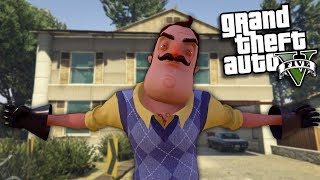 GTA 5 Mods - HELLO NEIGHBOR MOD (GTA 5 Mods Gameplay)