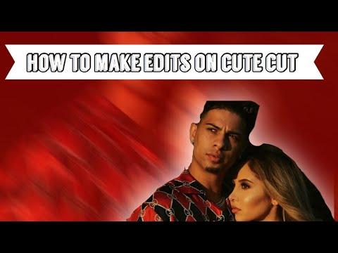 How to make edits on cute cut