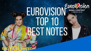 Eurovision 2018: Top 10 - Best Notes (Reaction)