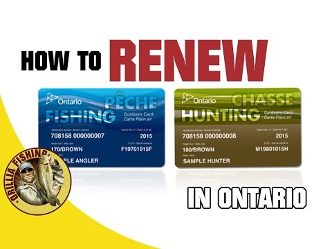 How To Update Your Ontario Fishing Hunting And Outdoors Card Online 2019