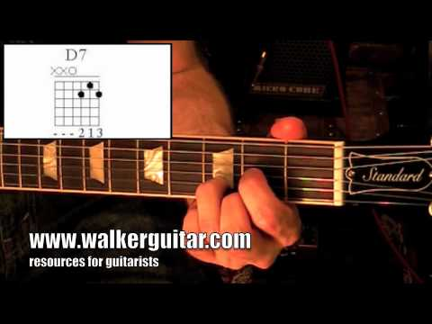 Chords - D Dominant 7 (guitar lesson + TAB)