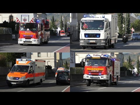 [+ Nachalarm über E57 Sirene] Einsatzfahrten Feuerwehr, DLRG & DRK Andernach zu Alarmübung