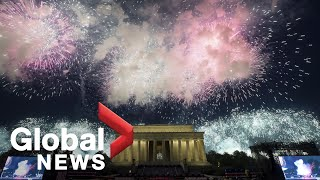 4th of July fireworks light up sky in Washington, D.C.