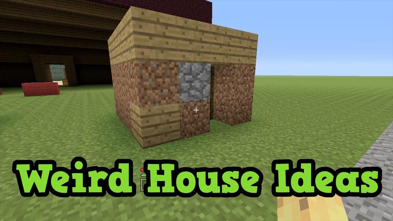 4 WEIRD Minecraft House Ideas Inspiration YouTube