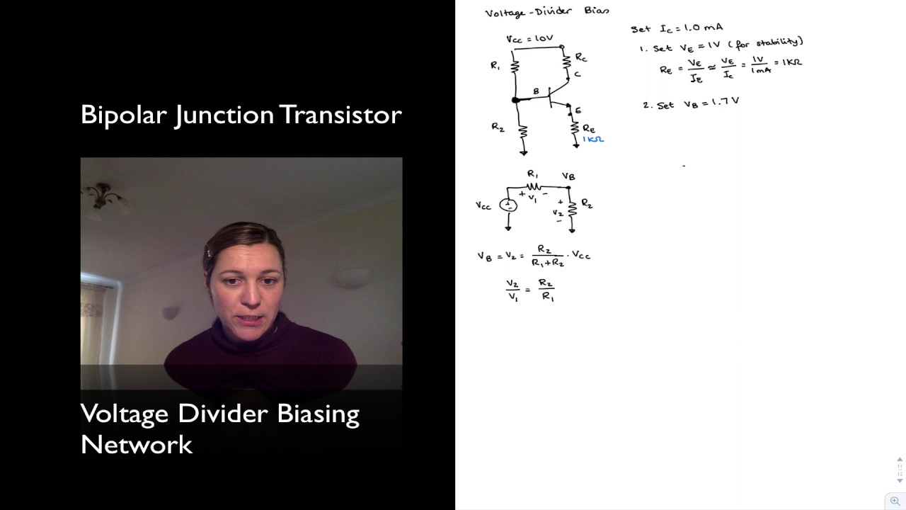 a lab experiment to design a voltage divider bias bjt transistor configuration