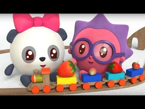 Малышарики - Обучающий мультик для малышей - Все серии подряд -  про Ёжика и Пандочку