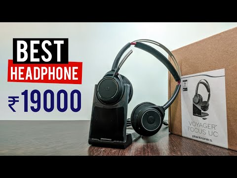 Plantronics ANC Headphone Unboxing in hindi | Voyager Focus UC Headphone Review in India