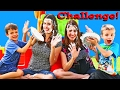 PIE IN THE FACE CHALLENGE Twin Telepathy Game Kids Hit Mom With Pie by DisneyCarToys