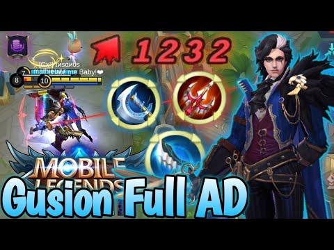 Gusion Full AD👌 Insane Gameplay | Mobile Legends:  Bang Bang💥💥