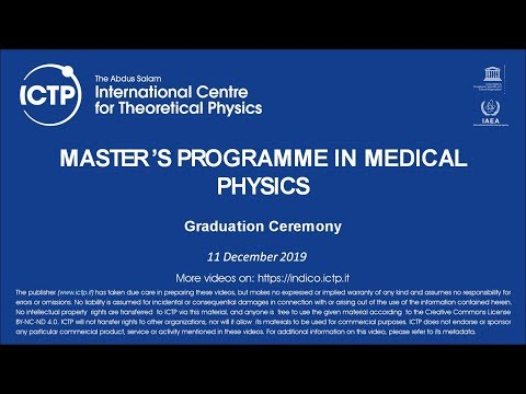 2019 Master's Programme In Medical Physics Graduation Ceremony