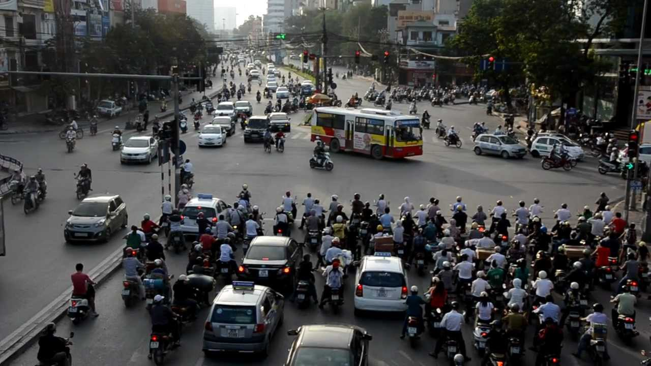 Hanoi epic traffic chaos during