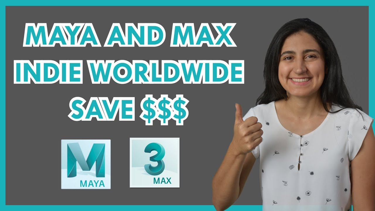 $265/year Autodesk Maya and 3DS Max with Indie versions