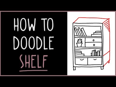 Learn How to Doodle a Bookshelf (drawing tips)