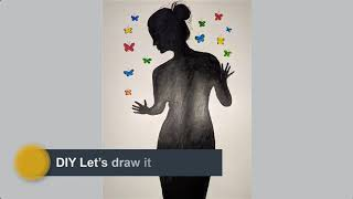 DIY Let's draw it / Art of sadness / Drawing Sadness from Inside Out