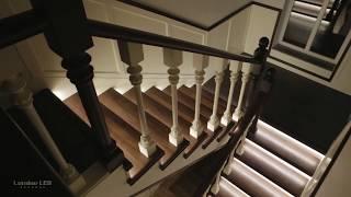 видео Подсветка лестницы на второй этаж коттеджа своими руками: встраиваемые светильники arduino, датчики движения, контроллеры (фото)