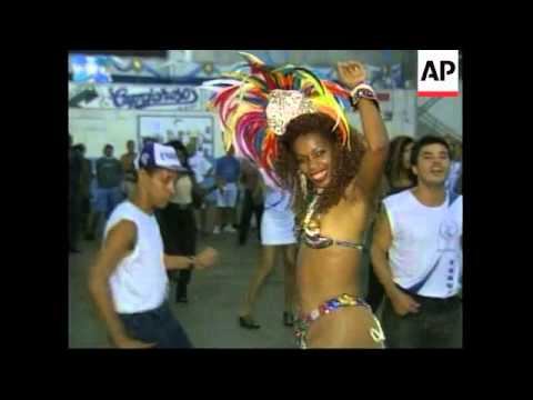 BRAZIL: RIO DE JANEIRO: DANCERS PREPARE FOR MARDI GRAS CARNIVAL