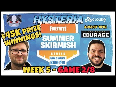 Hysteria | Fortnite Battle Royale - $45,000 Prize Won - Summer Skirmish - (High Eliminations) Format