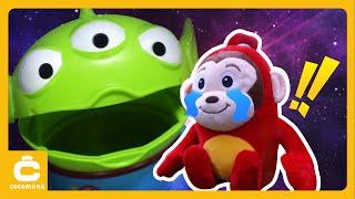 НЛО, привиди !! Інопланетяни ! Давайте подорожувати в космосі!   Англійська пісня   Cocomong іграшка Doodle для дітей
