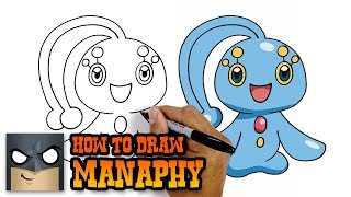 How to Draw Manaphy | Pokemon | Awesome Step-by-Step Tutorial