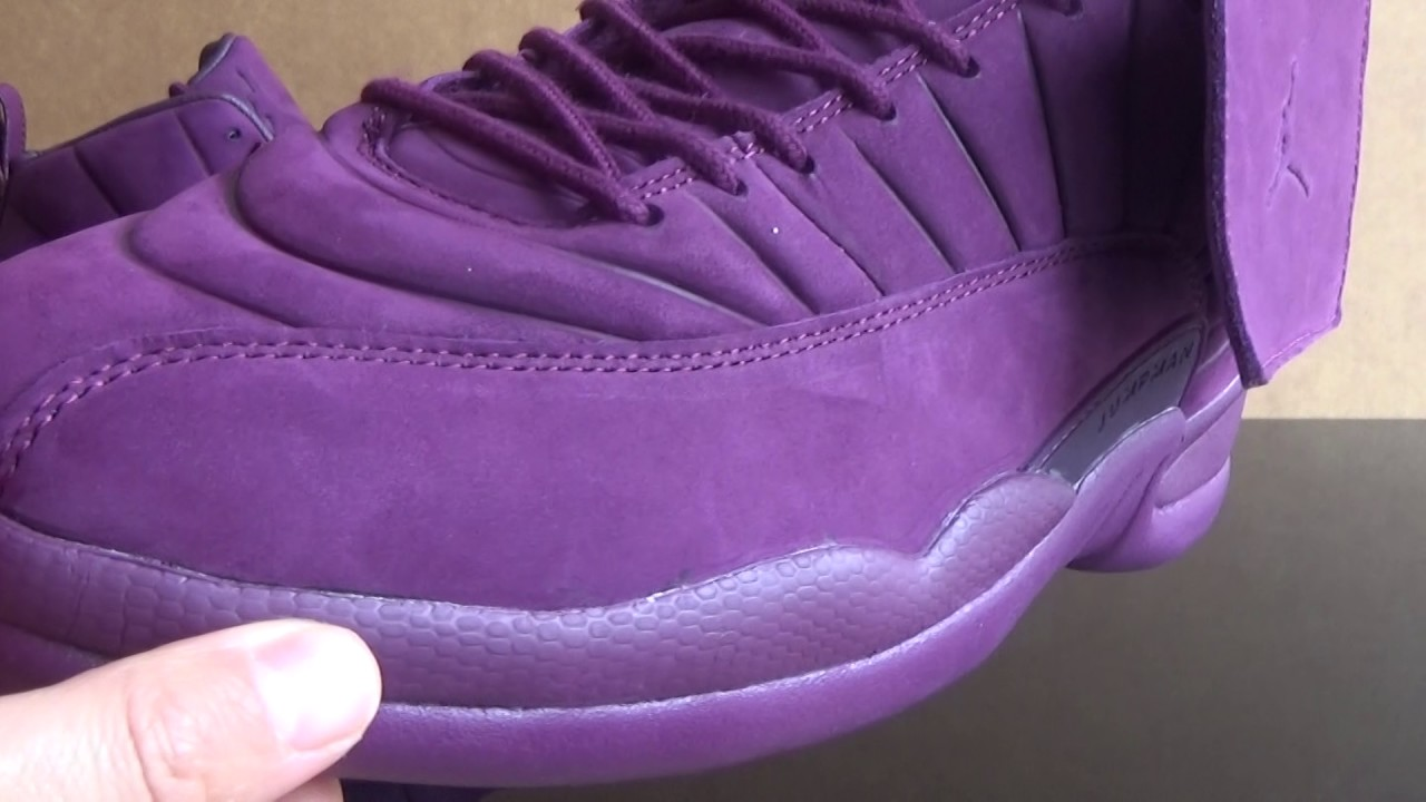 "078e3f52b824 Authentic PSNY x Air Jordan 12 ""Burgundy"" Review from www.bestdealkicks.ru"