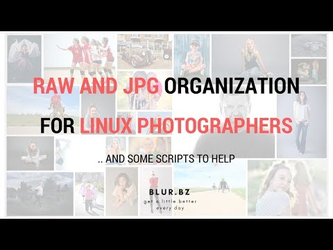 Photographer Ubuntu Linux File Organization Scripts