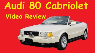 Audi Cabriolet B4 Classic 80 Road Test Drive Video Review