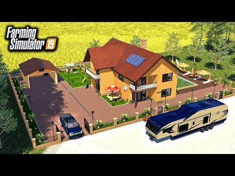 BUILDING A MANSION! & STARTING AN RCC FRANCHISE IN NEW TOWN! | FARMING SIMULATOR 2019