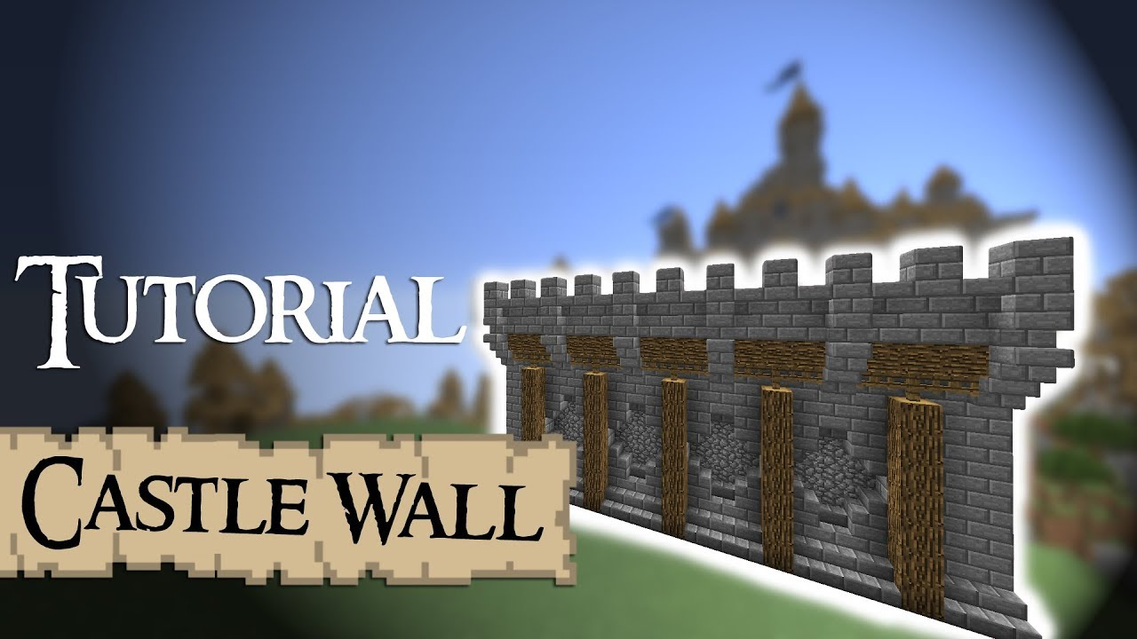 Minecraft Tutorial: medieval walls (Version 2) - YouTube