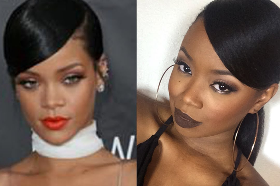 Rihanna Inspired Sleek Swoop Pony Tutorial  YouTube - Cute Messy Hairstyles