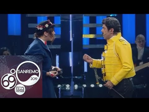 Sanremo 2019 - Pierfrancesco Favino e Virginia Raffaele, un tuffo nei musical