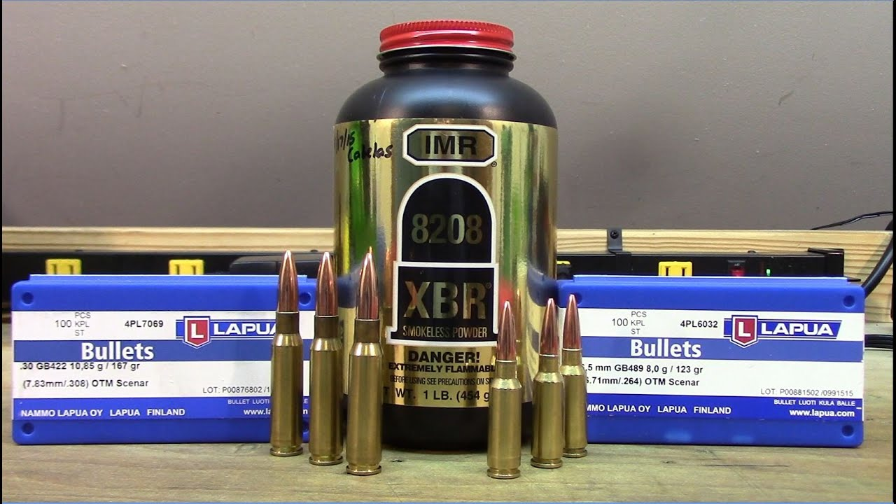 308 Win and 6 5 Grendel - Lapua Scenar bullets with IMR 8208 XBR