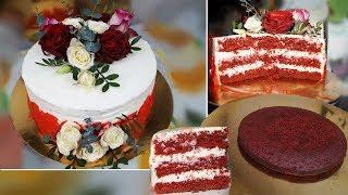 Торт Красный Бархат маме на День Рождения. Торт своими руками дома | Анюта Журило