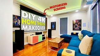 DIY 4K HOME THEATER MAKEOVER REMODEL 🎬 Smart & Stealth Media Room