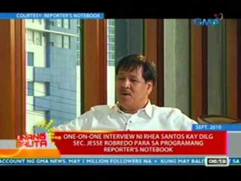 UB: One-on-one interview ni Rhea Santos kay DILG Sec. Robredo para sa programang Reporter's Notebook