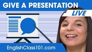 how to give a presentation in english basic english phrases