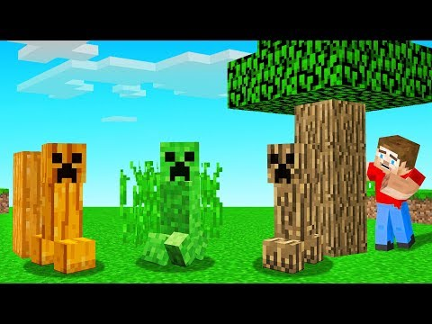 These CREEPERS Have CAMOUFLAGE Ability! (Minecraft)