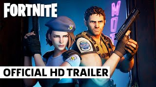 Fortnite x Resident Evil Chris Redfield and Jill Valentine Trailer