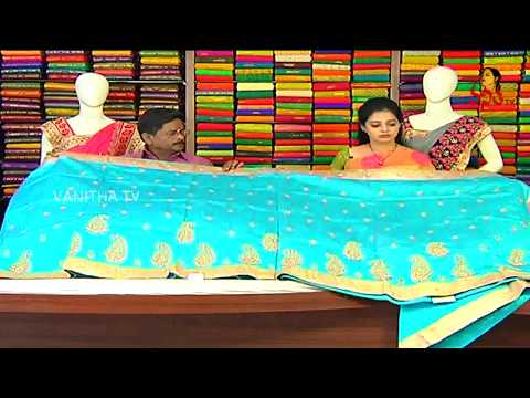 Exclusive Designer Wear Chanderi Pattu Saree || New Arrivals || Vanitha TV