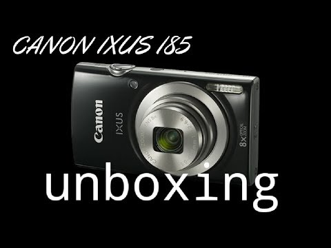 canon ixus 185 unboxing and photo/video samples