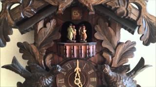 Vintage Anton Schneider Black Forrest Musical Carousel Wall Cuckoo Clock